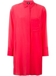 Paul Smith Ps Shirt Dress Pink And Purple