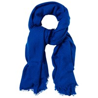 White Stuff Diamond Weave Scarf Blue