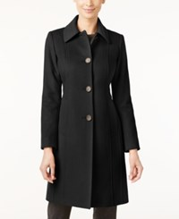 Anne Klein Petite Wool Cashmere Blend Walker Coat Only At Macy's Black