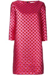 Gianluca Capannolo Patterned Shift Dress Pink And Purple