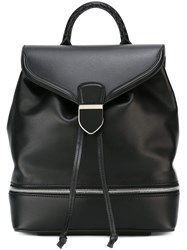 Alexander Mcqueen Zip Detail Backpack Black