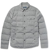 Polo Ralph Lauren Quilted Cotton Blend Down Jacket Gray