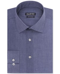 Unlisted By Kenneth Cole Hairline Stripe Slim Fit Dress Shirt Blue
