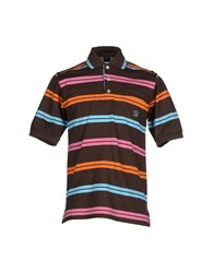 Paul And Shark Topwear Polo Shirts Men Dark Brown