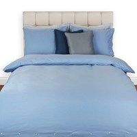 Gant Chambrey Duvet Cover Pacific Blue Super King
