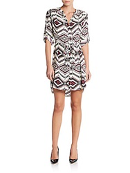 Collective Concepts Southwestern Print Belted Shirtdress Multi