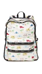 Le Sport Sac Functional Backpack Roadtrip Vaca Cream