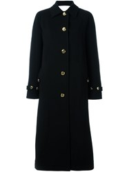 Francesco Scognamiglio Single Breasted Coat Black