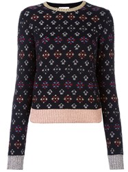 Red Valentino Metallic Intarsia Jumper Black