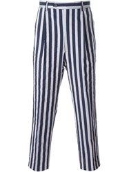 Lc23 Striped Trousers Blue