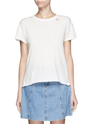 Rag And Bone 'Vintage Crew' Heart Embroidered T Shirt White