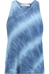 Kain Label Amri Tie Dye Cotton And Modal Blend Tank Blue