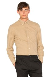 Gitman Brothers Vintage Flannel Button Down Tan