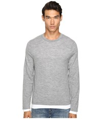 Vince Crew Neck Sweater Heather Steel Men's Sweater Pink