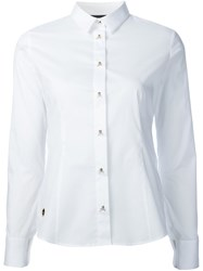 Philipp Plein Slim Fit Shirt White