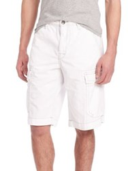 True Religion Trooper Isaac Cargo Shorts White