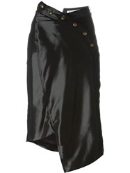 Christian Dior Vintage Asymmetric Skirt Black