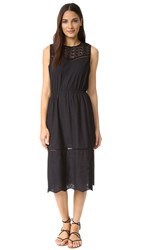 Cupcakes And Cashmere Drew Engineered Cotton Dress Black