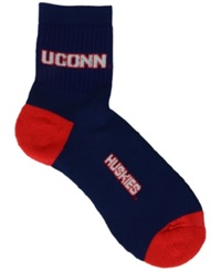 For Bare Feet Connecticut Huskies Ankle Tc 501 Socks Blue