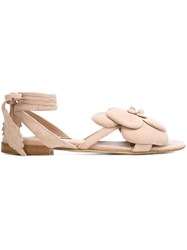 Olgana 'Dahlia' Flat Sandals Pink And Purple