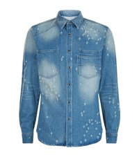 Givenchy Distressed Denim Shirt Male