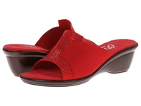 Onex Andi Red Elastic Women's Slide Shoes