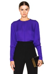 Tamara Mellon Georgette Keyhole Blouse In Purple