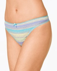 Charter Club Pretty Cotton Thong Only At Macy's Multi Stripe
