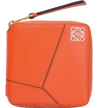 Loewe Puzzle Leather Wallet Coral