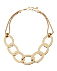 Rj Graziano R.J. Graziano Chunky Golden Oval Chain Link Necklace