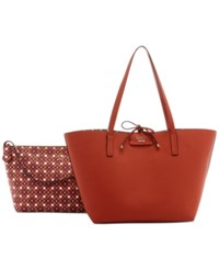 Guess Bobbi Bag In Bag Reversible Tote Spice Multi