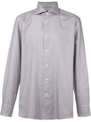Ermenegildo Zegna Plaid Button Down Shirt Pink And Purple
