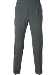 Les Hommes Piped Slim Fit Trousers