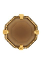 Louise Et Cie Jewelry Octagon Stone Cocktail Ring Size 7 Metallic