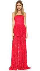 Alexis Sylvia Lace Gown Red