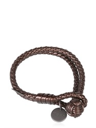 Bottega Veneta Double Intreccio Metallic Deer Bracelet