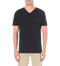 Tommy Hilfiger Lightweight Cotton Jersey T Shirt Midnight