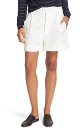 Vince Women's Slouchy Roll Cuff Shorts White
