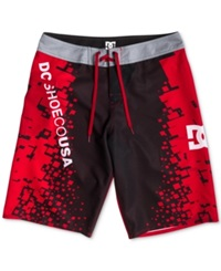 Dc Shoes Greenwich Printed 22' Board Shorts Greenwich Red