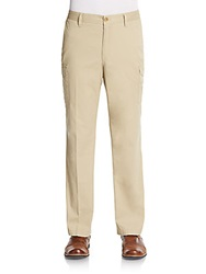 Saks Fifth Avenue Blue Cotton Cargo Pants Chino