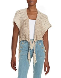 Free People Chunky Knit Shrug Cream