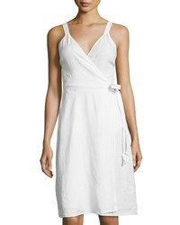Calypso St. Barth Ivara Sleeveless Wrap Dress Salt