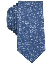 Bar Iii Men's Chantilly Floral Print Slim Tie Only At Macy's Navy