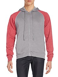 Alternative Apparel French Terry Zip Jacket Nickel Mulberry