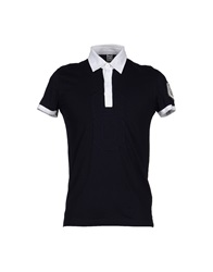 Bikkembergs Polo Shirts Dark Blue