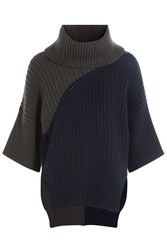 Derek Lam Turtleneck Pullover With Virgin Wool And Cashmere Blue