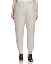 Eileen Fisher Plus Tapered Ankle Pants Soft White