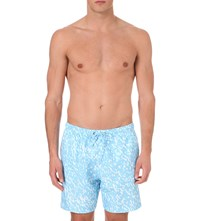 Boardies Camouflage Print Mid Length Swim Shorts Blue
