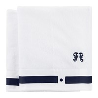 Gianfranco Ferre Navy Blue Towels Set Of 2 Hand Towel
