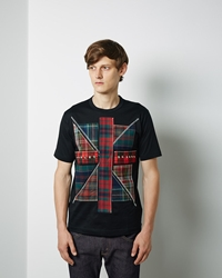 Junya Watanabe Man Union Jack Patch Tee Black